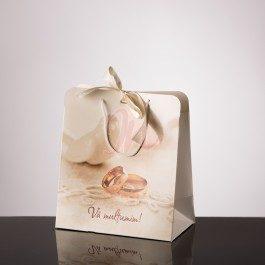 Punga nunta carton alb plastifiat PT 19