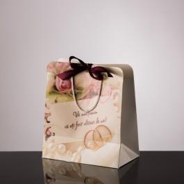 Punga nunta carton alb plastifiat PT 20