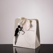 Punga nunta carton alb plastifiat PT 25